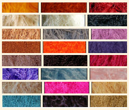 24 shades of Tibetan Lamb For Doll Hair and Wigs