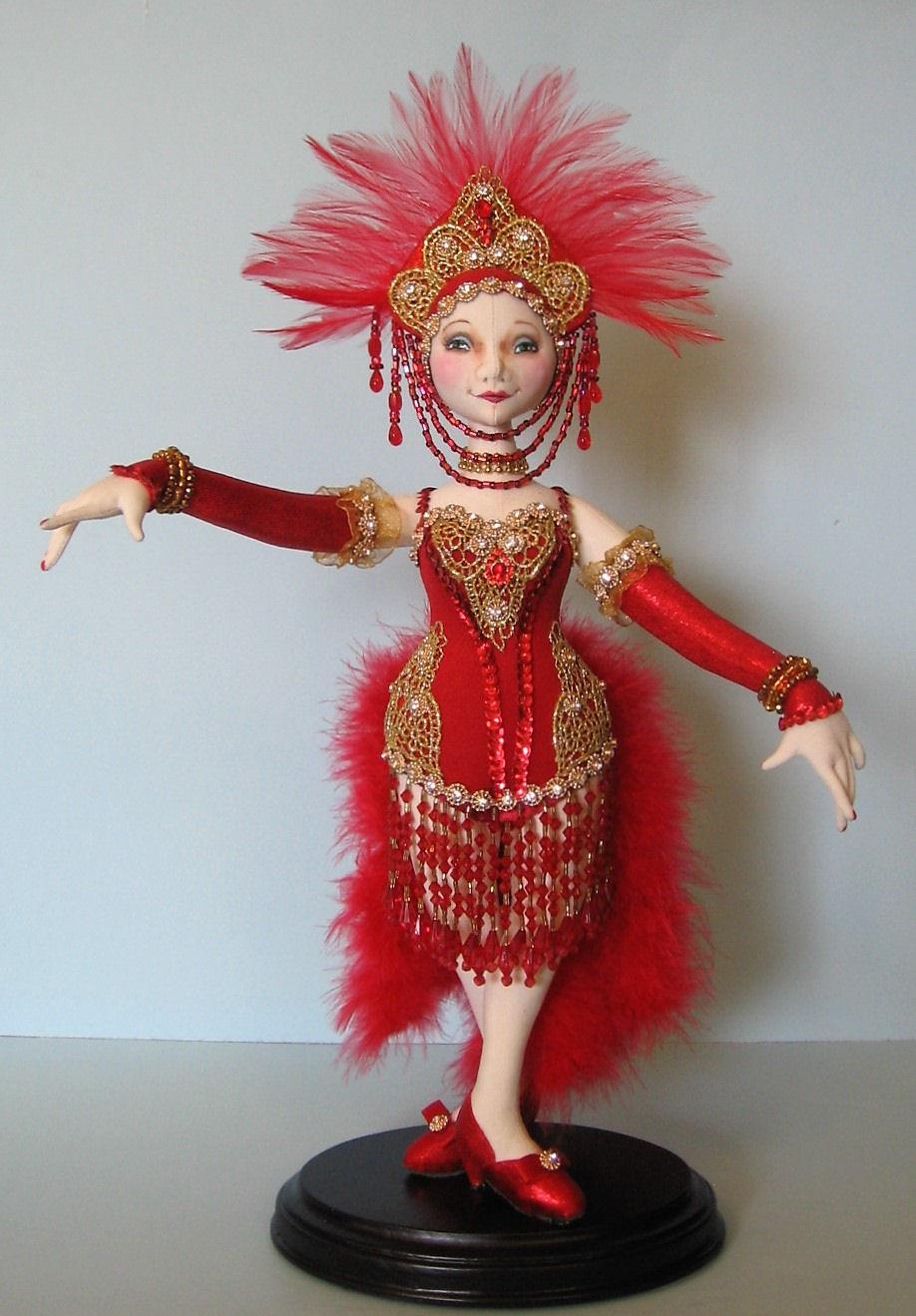 "SANTOS CAGE DOLL/"" BY ARLEY BERRYHILL *NEW* CLOTH ART DOLL PATTERN /""ISABELLA"