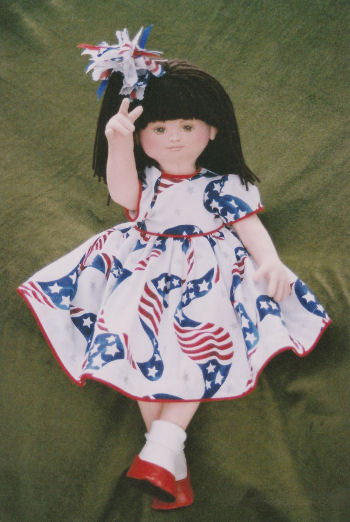 America, I Love You Doll Pattern by Arlene Cloth Doll Making Pattern