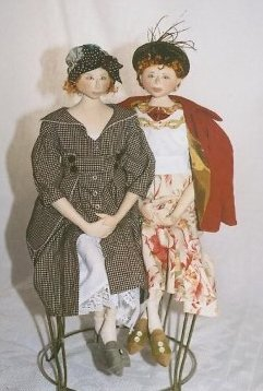 "LOTHING PATTERN ONLY providing two more outfits for the Pippa doll body to complete the ""Three English Maids."""