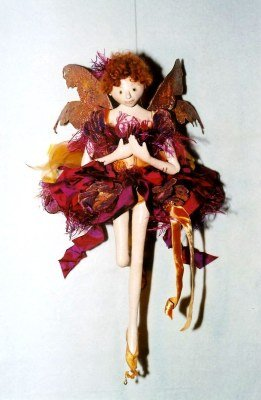 "Enchanting 18"" painted soft sculpture fairy. How to Sew- Fabric"