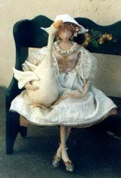 "Sweet 18"" Goose Girl. Doll and Animal Sewing Pattern"