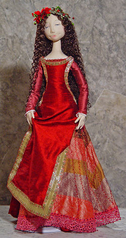 "28"" beauty - Red Rose - Cloth Fabric Doll Patterns Available"