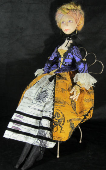 Lady Elspeth, Cloth Doll Witch Pattern for Sewing