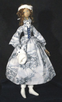 """Lillian Winter"" Cloth Doll Sewing Pattern - New"