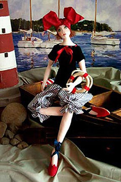 "20"" intermediate level doll making sewing pattern project by Barbara Willis"