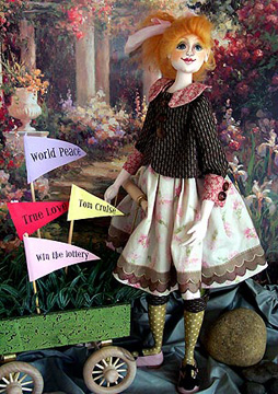 "20"" beauty advanced level pattern for doll makers.  Sewing instructions an pattern by Barbara Willis"