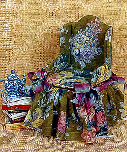 Cloth Sewing Project and Pattern for a Fabric Chair for Dolls