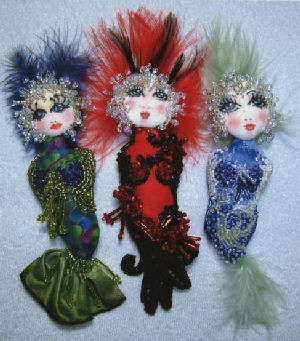 Bubble Doo, Cloth and Bead Mermaid  Pin Doll Pattern
