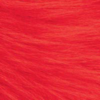 Craft Fur Doll Hair  Red