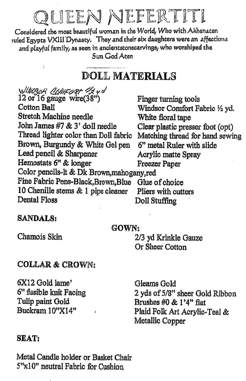 Cloth Doll Making (Sewing) Patterns by CLAIRE-ELLEN