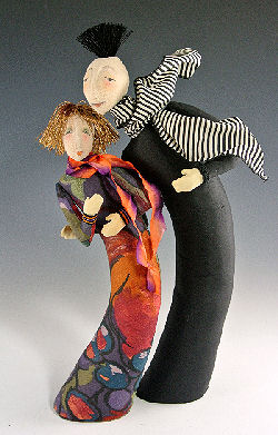 "It's De-Lovely!  Art Cloth Doll Pattern for easy-to-make dolls stand 12"" & 15"" tall,"