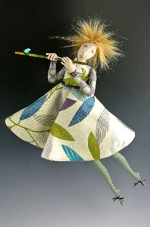 "Tinsel and Wishes - What beautiful music this 17"" wall doll is making!"