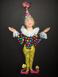 "18"" Jester wall doll - Cloth Doll Making Pattern"