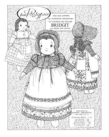 BRIDGIT - An American country-girl doll - Vintage Cloth Doll Pattern Sewing Pattern