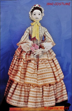 VERONICA 1860 COSTUME - Sewing Pattern for Vintage Costume