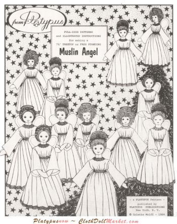 Cloth Doll Making Sewing Pattern for Muslin Angels