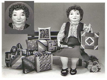 Phoebe - A contemporary pedlar doll by Colette Wolff - Cloth Doll Sewing Pattern