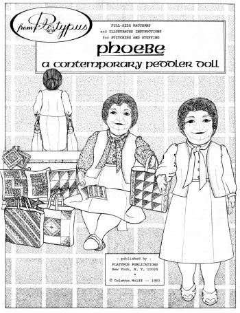 Cloth Doll Making Sewing Pattern of a Contemporary Pedlar Doll