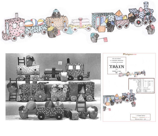 "61"" Long Cloth Train Sewing Pattern"