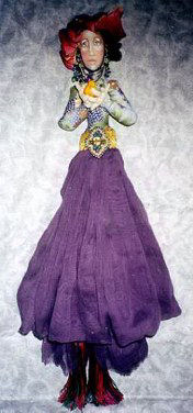 "20"" Wall Doll with clothing, headwrap, face and beading instructions."