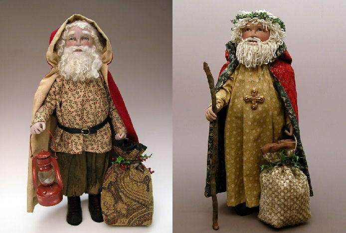 Old World Santa Sculpted Face Cloth Doll Sewing Pattern
