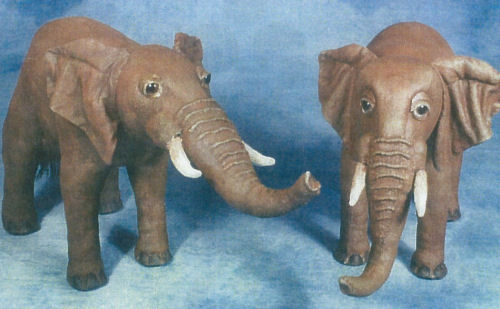 Elephant Cloth Animal Doll Making Sewing Pattern and Instructions