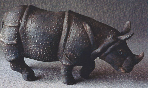 Rhino Cloth Animal Doll Making Sewing Pattern