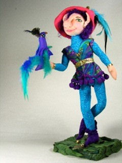 "Paddy Peacock - colorful 12"" elf Sewing pattern.  Doll"