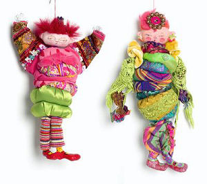 "The colorful 11"" character made of stuffed yoyos requires little machine sewing and is great fun for a group project."