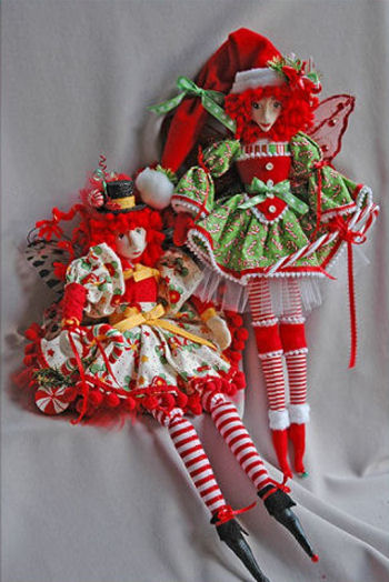 Candice Cane & Pepper Mint Christmas Fairies Cloth Sewing Doll Pattern
