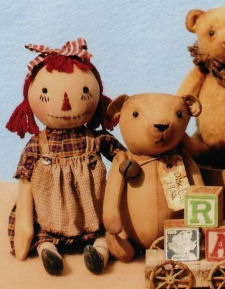 Olde Teddy Bear & Olde Little Annie - Two Pattern Set!