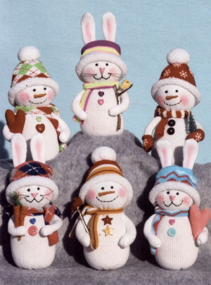 Sock it to Winter Snowmen and Snow Bunnies