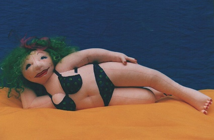 Beach Babe on Her Side Cloth Doll Pattern
