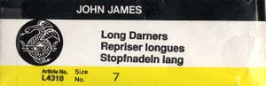 John James Long Darners Size 7
