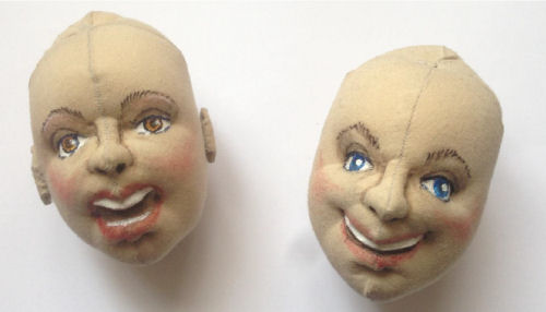 How to make a cloth doll head smiling or singing. by Jorge Fernandez