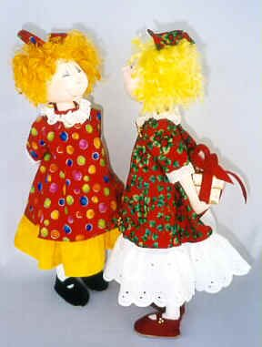 Holly cloth doll pattern by Jill Maas.