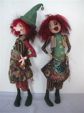 Amelia cloth doll pattern by Jill Maas.