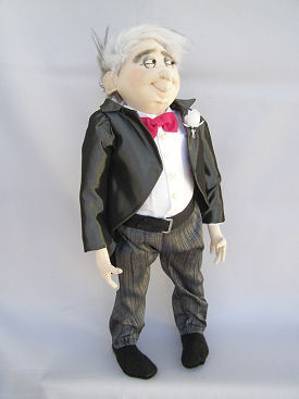 Father of the Bride cloth doll pattern by Jill Maas.