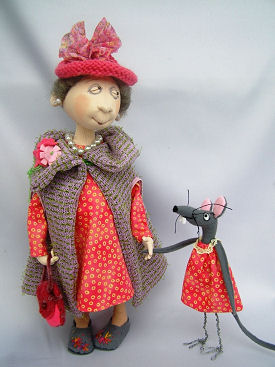 Maisie cloth doll pattern by Jill Maas.