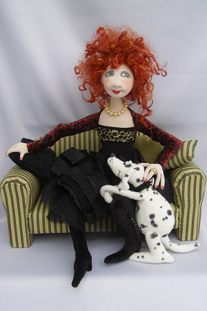 Lola and Nelson cloth doll pattern by Jill Maas.