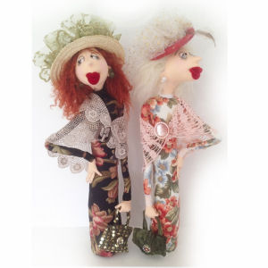 Leonora and Lily cloth doll pattern by Jill Maas.