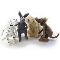 Three Dogs and A Kangaroo Cloth Doll Sewing Pattern by Jill Maas