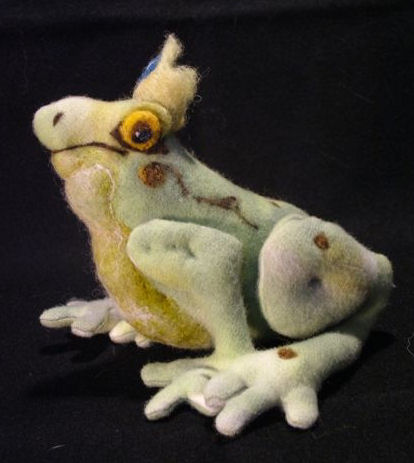 Frog Prince - Stuffed Animal Frog Pattern.  Sewing Instructions.