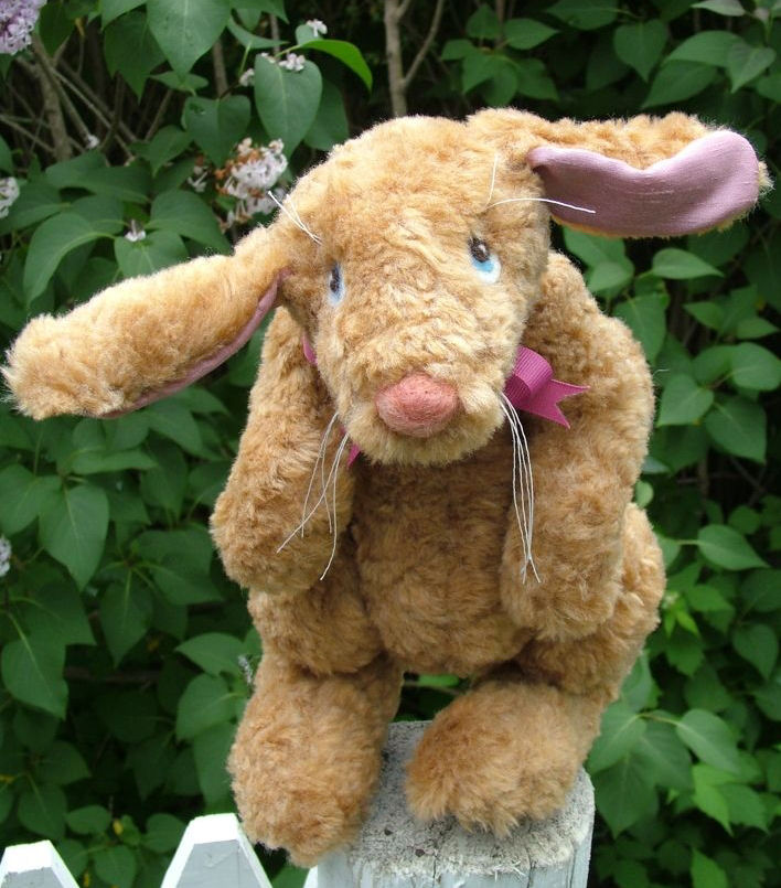 Spring Rabbit - Soft Cloth Animal Sewing Pattern.  Stuffed Animal