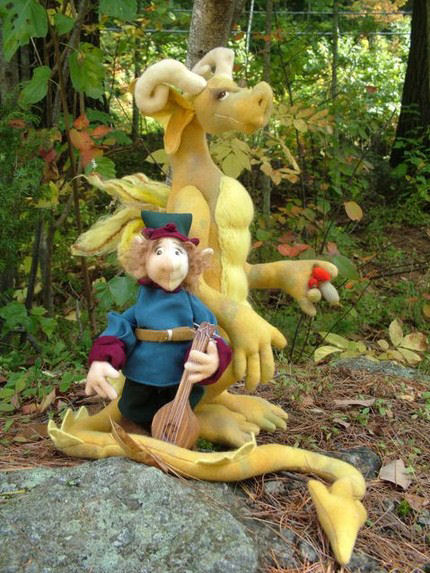 Percival & Goon Cloth Dragon Doll Pattern - Sewing Project