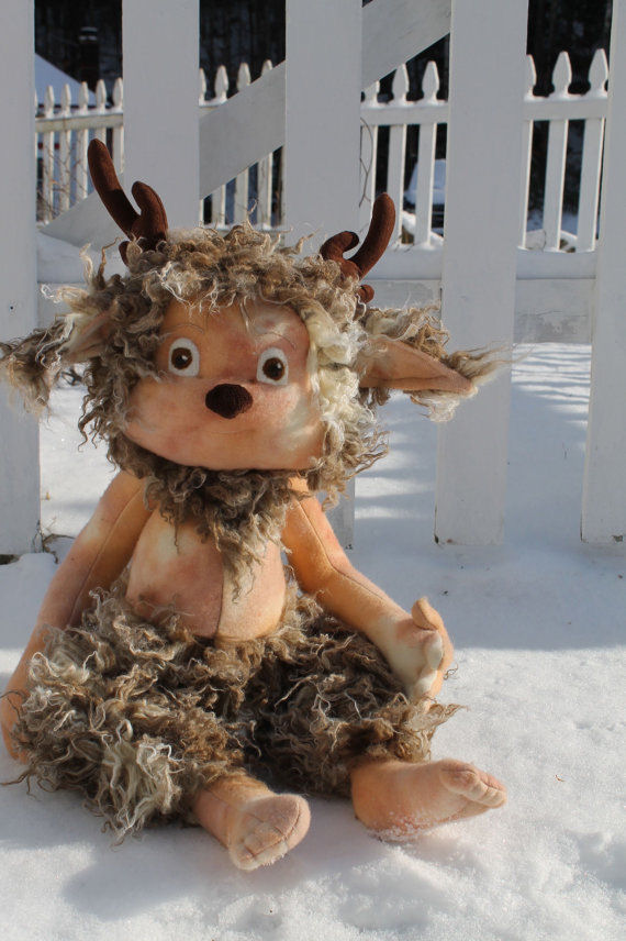 Grizzle the Faun - Cloth Doll Making Sewing Pattern