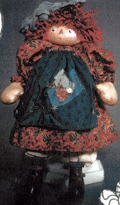 "Just Anne Darling 22"" painted raggedy. Cloth Doll Pattern"
