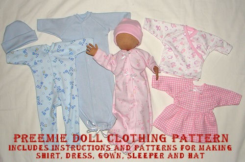 Preemie Doll Pattern Cloth Doll Pattern Sewing Dollmaking