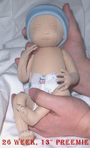 Preemie Doll Pattern Cloth Doll Pattern 26 Week Sewing Dollmaking